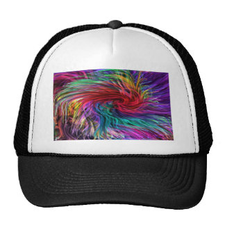 FIBER Threads Spaghetti -  Sparkle Graphic Art Mesh Hat