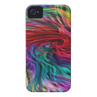 FIBER Threads Spaghetti -  Sparkle Graphic Art iPhone 4 Covers