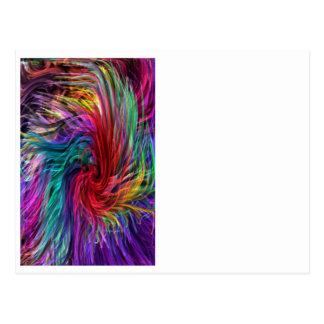FIBER Threads Spaghetti -  Sparkle Graphic Art Postcard