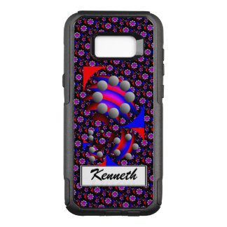 Fibonacci 'Fish Black' by Kenneth Yoncich OtterBox Commuter Samsung Galaxy S8+ Case