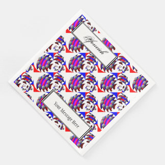 Fibonacci 'Fish' by Kenneth Yoncich Paper Serviettes
