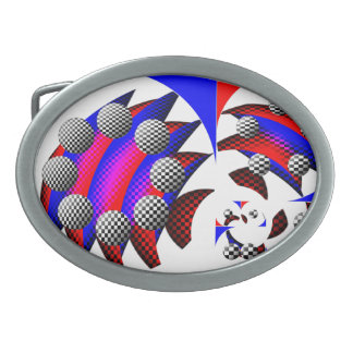 Fibonacci 'Fish Checker' by Kenneth Yoncich Oval Belt Buckles