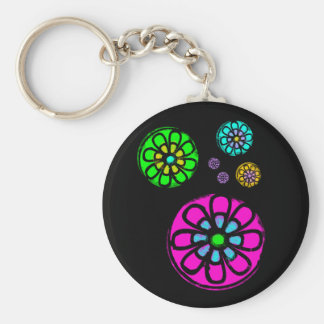 Fibonacci Flower Power Key Ring
