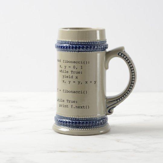 Fibonacci in Python Beer Stein