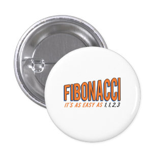 Fibonacci It's as Easy as 1, 1, 2, 3 3 Cm Round Badge