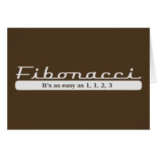 fibonacci... It's as easy as 1, 1, 2, 3 Greeting Card
