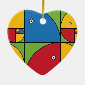 Fibonacci Parrots Christmas Ornament
