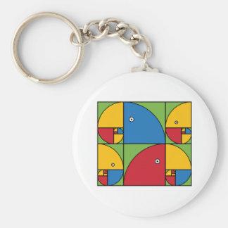 Fibonacci Parrots Key Ring