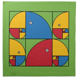 Fibonacci Parrots Napkin