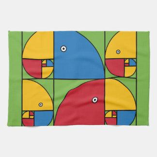 Fibonacci Parrots Tea Towel
