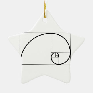 Fibonacci Ratio Christmas Ornament