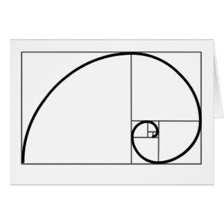 Fibonacci Ratio Greeting Card