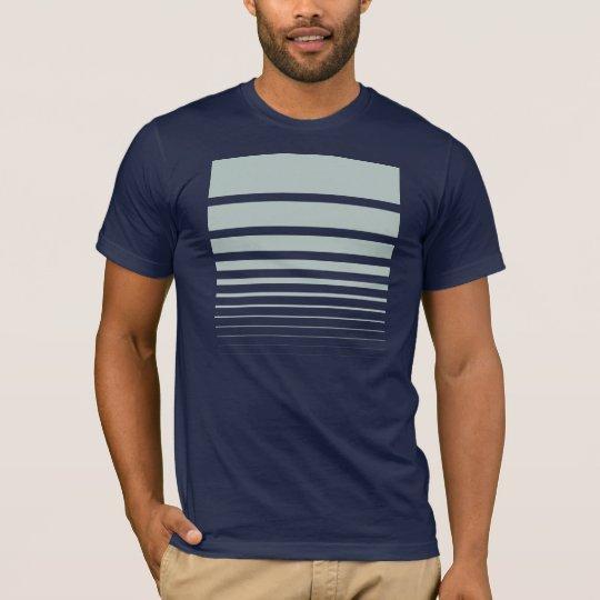 Fibonacci Sequence geometric t-shirt, blue-grey T-Shirt