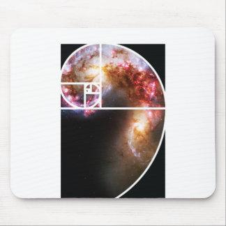 Fibonacci Spiral Galaxy Mouse Pad