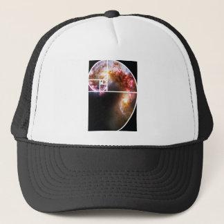 Fibonacci Spiral Galaxy Trucker Hat