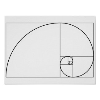 Fibonacci Spiral Golden Ratio Poster