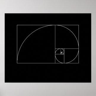 Fibonacci Spiral Poster