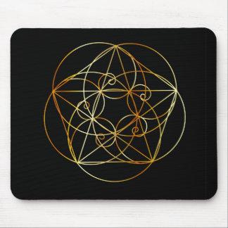 Fibonacci Spiral- The sacred geometry Mouse Mat