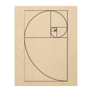 Fibonacci Spiral wood panel art