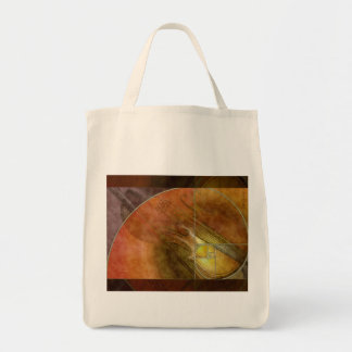Fibonacci Violin Abstract 2 Grocery Tote Bag