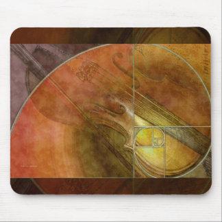 Fibonacci Violin Abstract 2 Mouse Pad