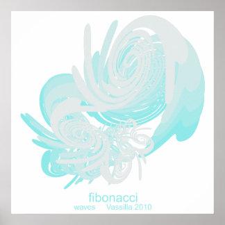 Fibonacci Waves Colossal Poster
