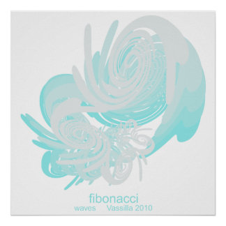 Fibonacci Waves Large Poster