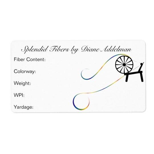 Fibre Arts Yarn ID Label Design Shipping Label