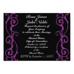 Fibril Ebony (Purple) Wedding Invitation
