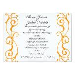 Fibril Ivory (Orange) Wedding Invitation