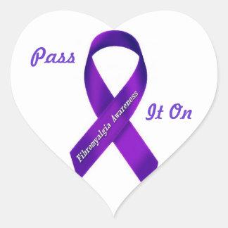 Fibro Awareness: Pass it on heart stickers