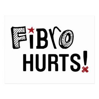 Fibro Hurts Postcard