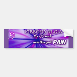 Fibro pain bumper sticker