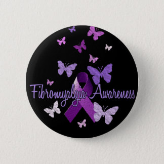 Fibromyalgia Awareness 6 Cm Round Badge