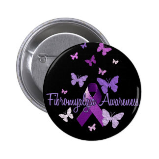 Fibromyalgia Awareness 6 Cm Round Badge