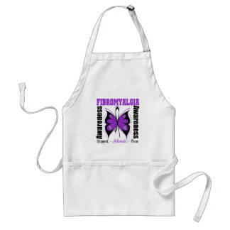 Fibromyalgia Awareness Butterfly Adult Apron