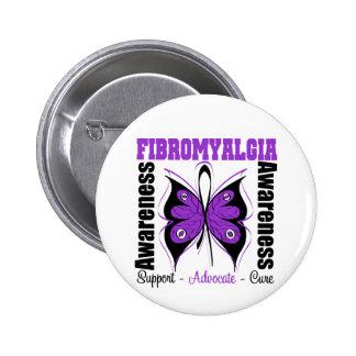 Fibromyalgia Awareness Butterfly 6 Cm Round Badge