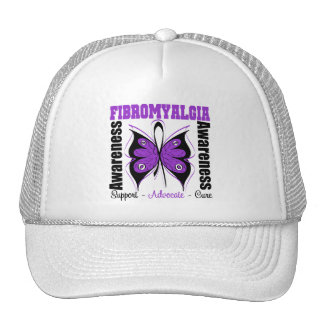 Fibromyalgia Awareness Butterfly Mesh Hat