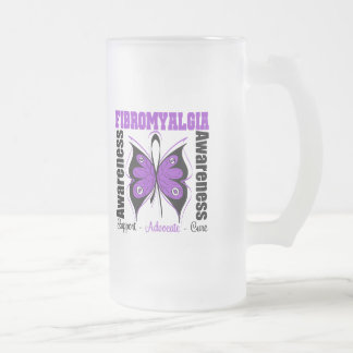 Fibromyalgia Awareness Butterfly Mugs