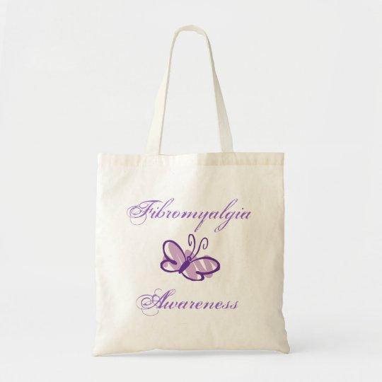 Fibromyalgia Awareness Butterfly Totebag Tote Bag