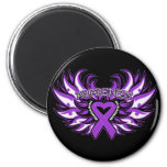 Fibromyalgia Awareness Heart Wings.png Magnets