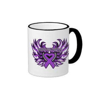Fibromyalgia Awareness Heart Wings.png Ringer Mug