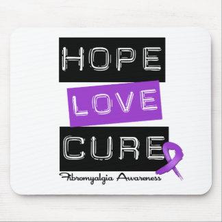 Fibromyalgia Awareness Hope Love Cure Mouse Mats