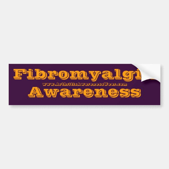 Fibromyalgia Awareness -  in the awareness Bumper Sticker