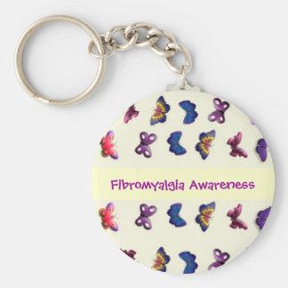 Fibromyalgia Awareness Keychain