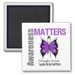 Fibromyalgia Awareness Matters Refrigerator Magnet