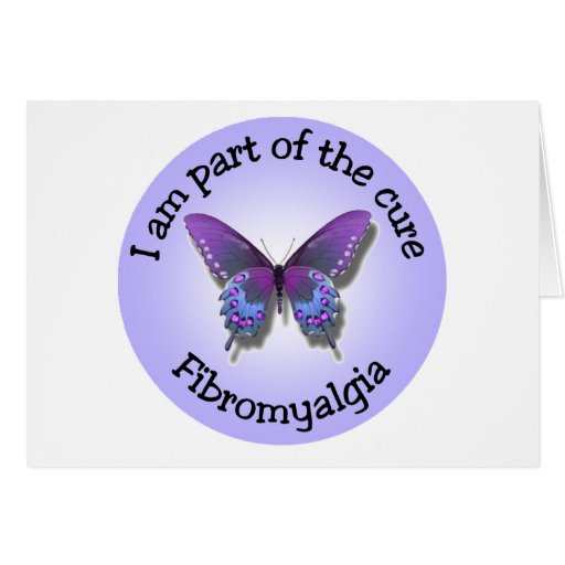 Fibromyalgia Awareness notecard - add your own mes Cards