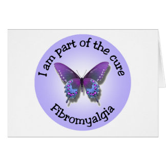 Fibromyalgia Awareness notecard - add your own mes Note Card