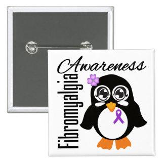 Fibromyalgia Awareness Penguin 15 Cm Square Badge