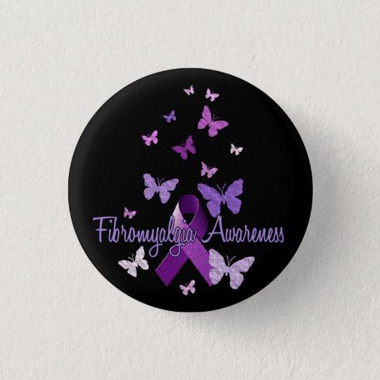 Fibromyalgia Awareness (ribbon & butterflies) 3 Cm Round